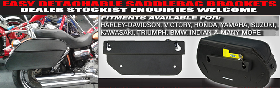 Easy saddlebag quick release brackets
