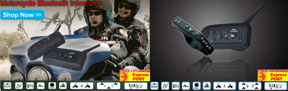 motorcycle communication bluetooth intercoms free express post