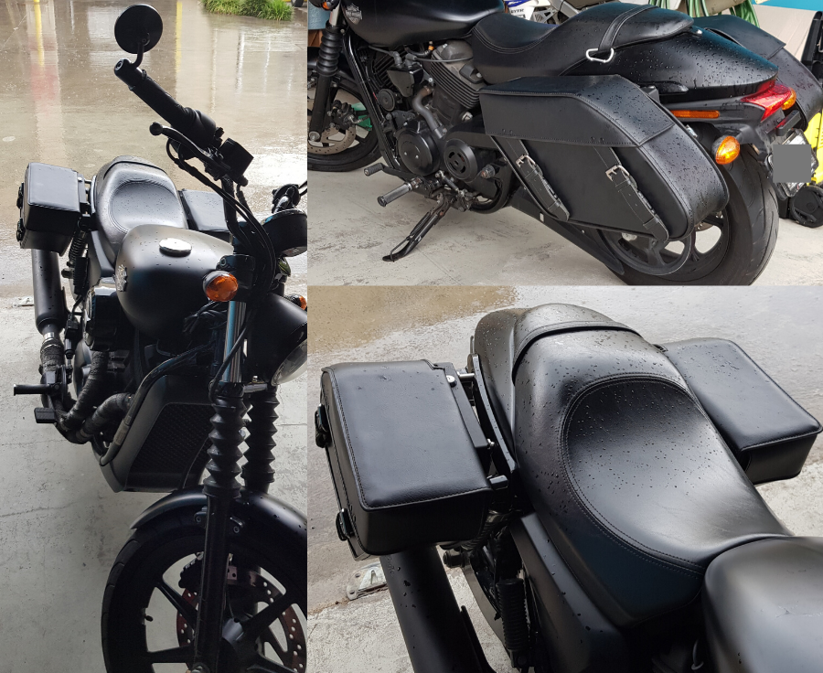 Street 500 Saddlebags & Easy Brackets - Model 110