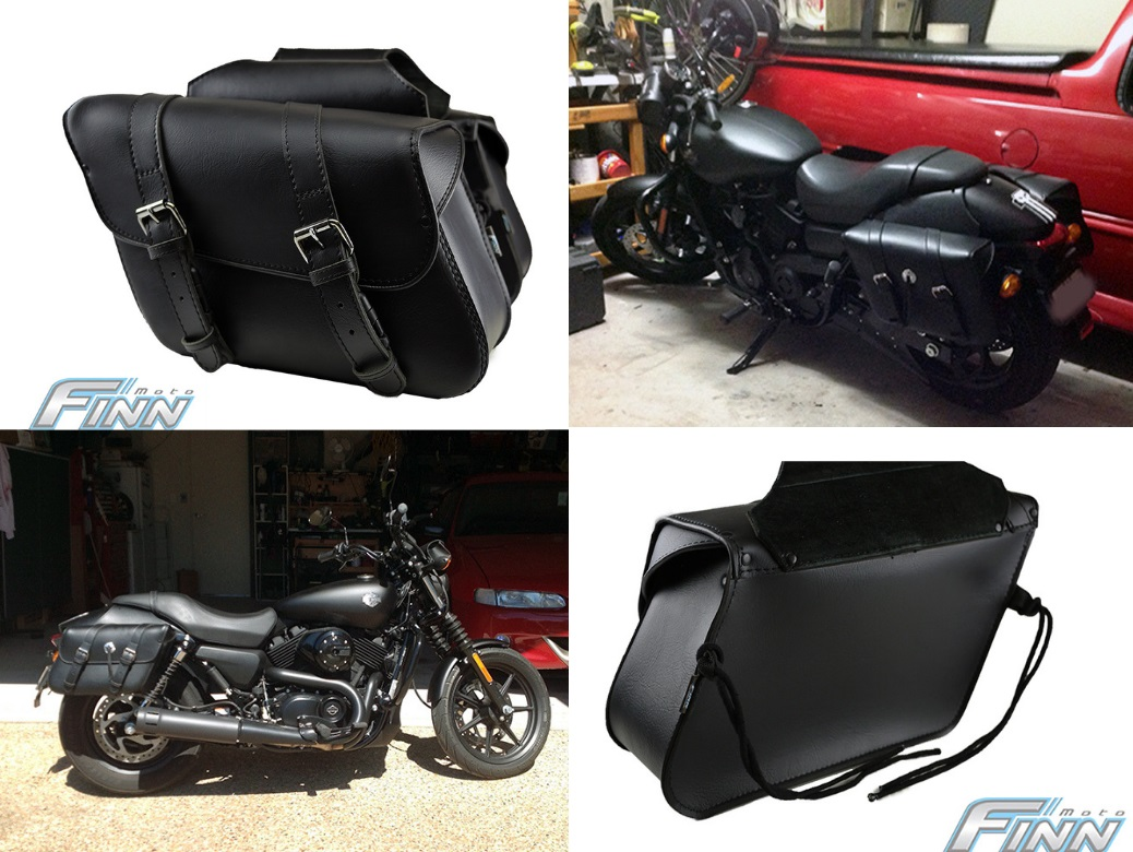 504 Slanted Throwover Saddlebags - Finn Moto