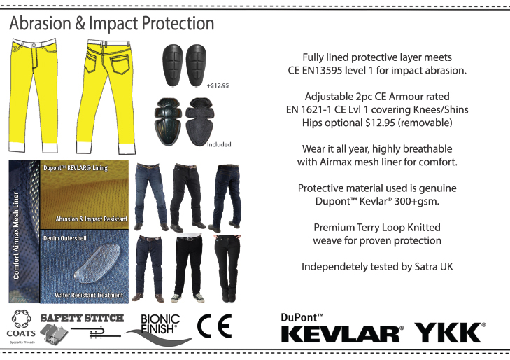 Finn Moto Jeans Specification